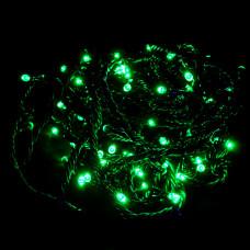 Гирлянда зеленая IP44 10м 100PCS 6.6W220V с контроллером светодиодная